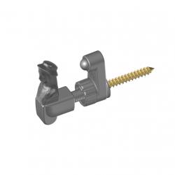 Arrêt de volet battant simple à tête de bergère E 22/38 mm | PLASTIGOND